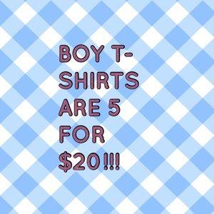 Shirts & Tops - Bundle 5 boy t-shirts or shorts, any size